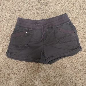 Maurices Gray Pull On Shorts Size Large